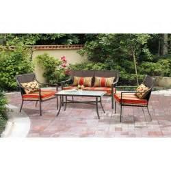 walmart red patio set 7546