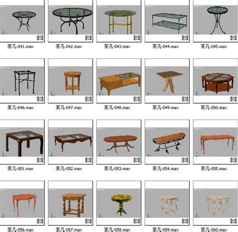 different types of kitchen tables the handsome coffee table style model 3d model over