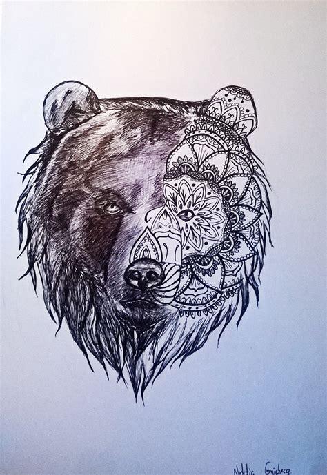 pin  natalia  mandala animal pinterest bears