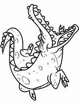 Crocodile Coloring Alligator Pages Baby Cute Printable Drawing Animals Sheet Colorings Getcolorings Clipartmag Getdrawings sketch template