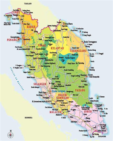 map  peninsular western malaysia