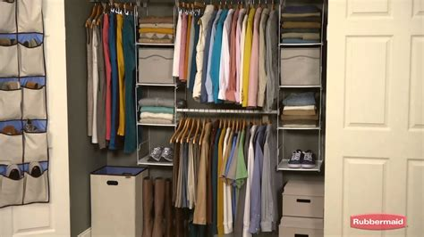 closets rubbermaid closet organizer  clothing