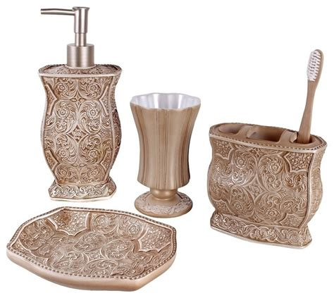 victoria  piece bath accessory set contemporary