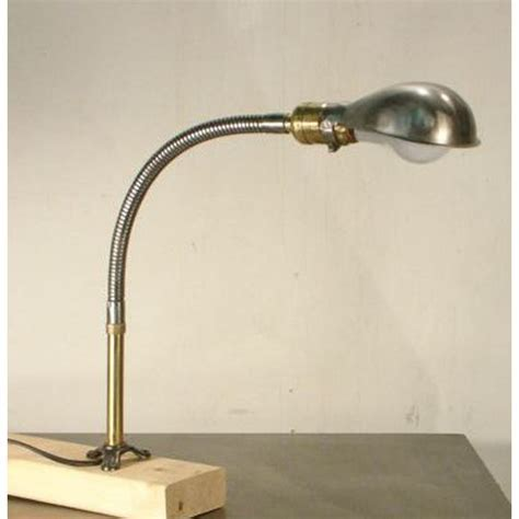 Antique Industrial Gooseneck Work Station Lamp