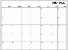 December 2027 Printable Blank Calendar