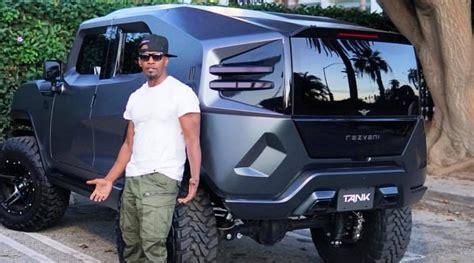 concept off road truck jamie foxx gets a wicked rezvani tank