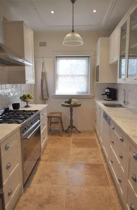 galley style kitchen kitchen flooring  flooring