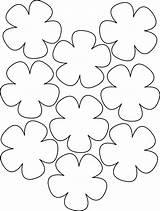 Flower Paper Template Lei Printable Templates Pattern Printablee Via sketch template