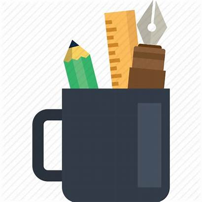 Tools Study Icon Drawing Education Cup Painting