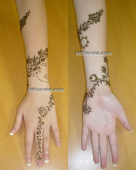 flower  vine henna tattoo tattoo