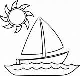 Boat Coloring Printable Preschool sketch template