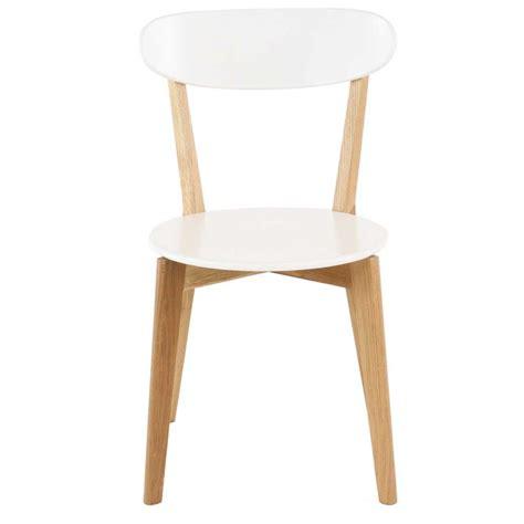 2x chaise ch 234 ne et laqu 233 blanc scandie mooviin