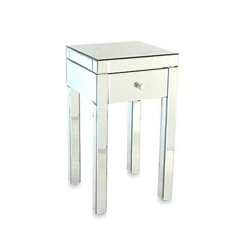 bed bath and beyond side table buy beveled mirrored side table from bed bath beyond