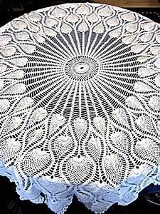 Crochet Charts Pineapple Tablecloth Crochet Pattern Crochet For