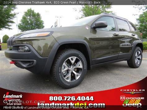 trailhawk jeep green eco green pearl 2014 jeep cherokee trailhawk 4x4