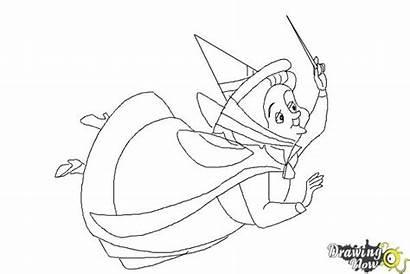 Fauna Sleeping Beauty Draw Drawing Coloring Drawings