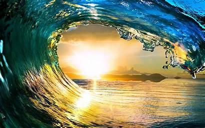 Water Android Wallpapers Sunset Wave Perfect Devices