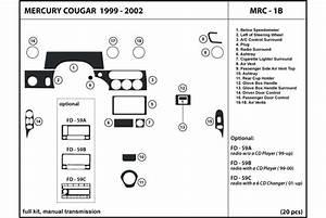 1999 Mercury Cougar Dash Kits