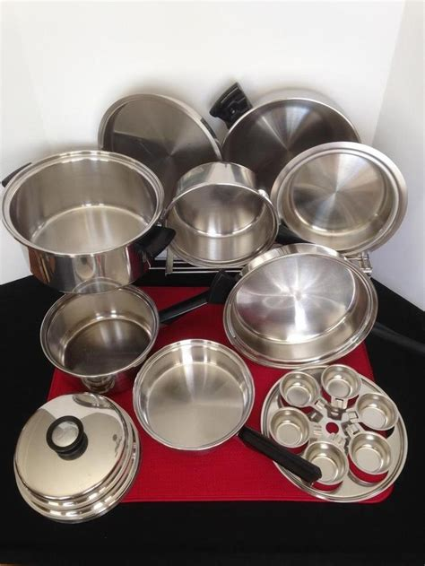 amway queen  piece waterless cookware  multi ply stainless steel cookware stainless