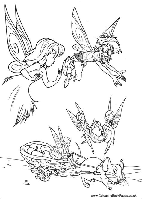 tinkerbell colouring pages disney fairies