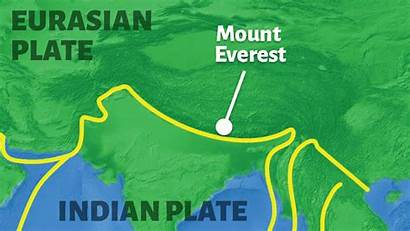 Plates Plate Tectonic Move Earth Everest Mount
