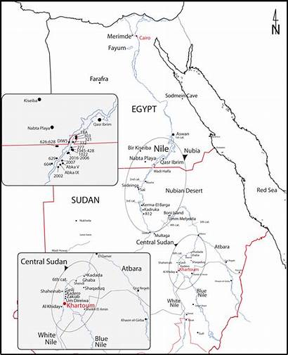 Nubian Map Neolithic Sudan Nile Valley Central