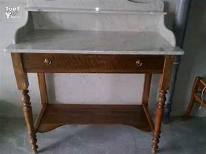 meuble ancien de salle de bain en marbre salon de provence With meuble salle de bain bois ancien