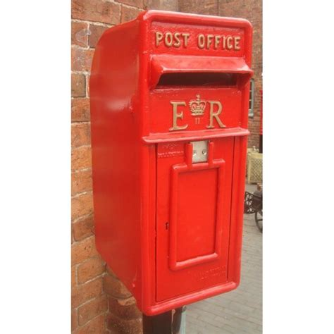 Post Box Cast Iron Replica Royal Mail Er Red Post Box Blackbrook
