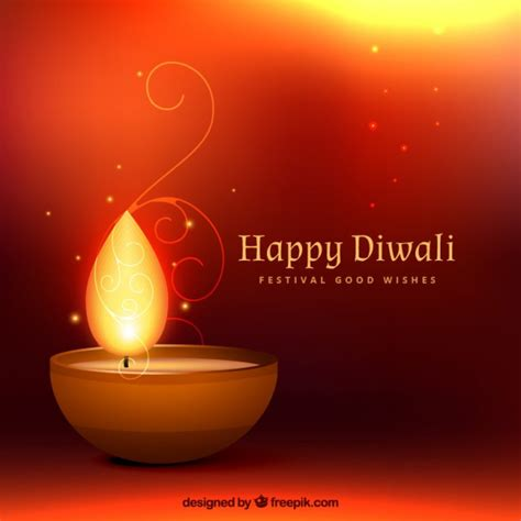 happy diwali background   candle vector