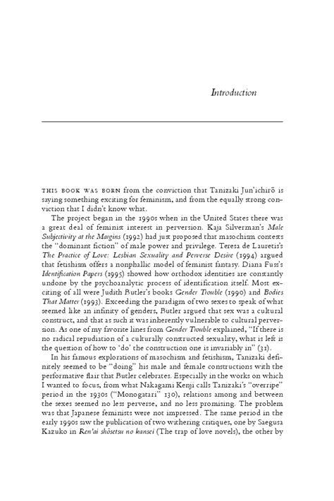 perversion called love reading tanizaki feminist