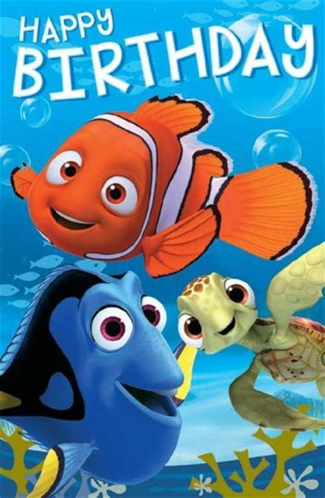 Finding Nemo Birthday Card   Finding Nemo & Finding Dory