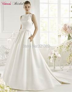 viman s bridal 2015 hot sale satin ball gown vestido de With ball gown wedding dress with pockets