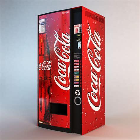 The cola dispenser is an appliance in the corn dog van. coca cola vending machine obj