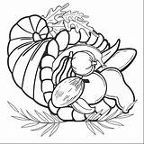 Cornucopia Drawing Getdrawings Coloring Pages Fruit Convertible sketch template
