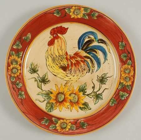 country kitchen dinnerware rooster plates roosters and plates on 2786