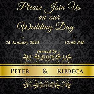 write name on black floral wedding invitations cards With wedding invitation cards cochin
