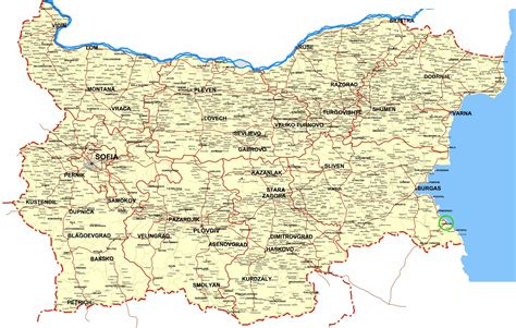 bulgaria maps printable maps  bulgaria