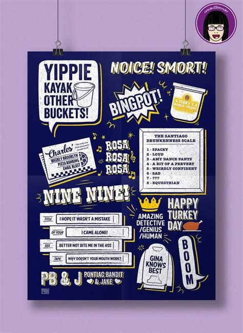 The series is created by dan goor and michael. Brooklyn 99 Quotes Print | Poster | Brookyln Nine Nine ...