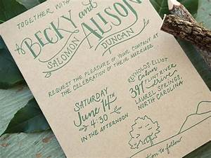 becky alison39s hand lettered rustic wedding invitations With hand lettered invitations