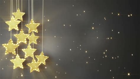 hanging star christmas lights gold hanging stars christmas lights loop motion background