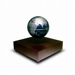 Globe Terrestre En Bois : globe terrestre flottant avec base l vitation en bois sur logeekdesign ~ Teatrodelosmanantiales.com Idées de Décoration