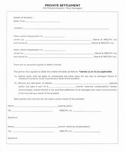 car accident private settlement letter sample docoments With car accident private settlement letter template