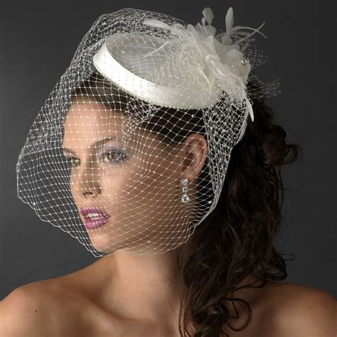 Bridal Hat Comb With Bird Cage Veil Elegant Bridal Hair