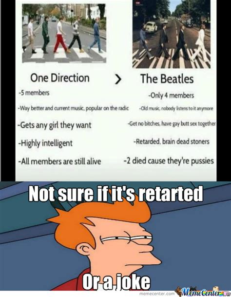 The Beatles Meme - one direction vs the beatles by randomguitarguy meme center