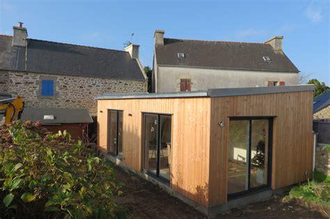 veranda extension cuisine extension bois finistère landéda maisons bois acacia