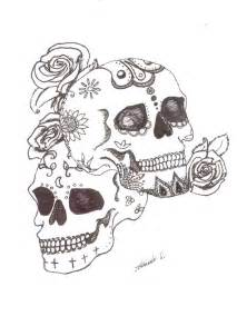 Candy Skull Tattoo Drawings