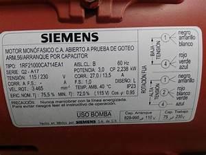 Bomba Para Agua 2 X 2 3 Hp Marca Siemens