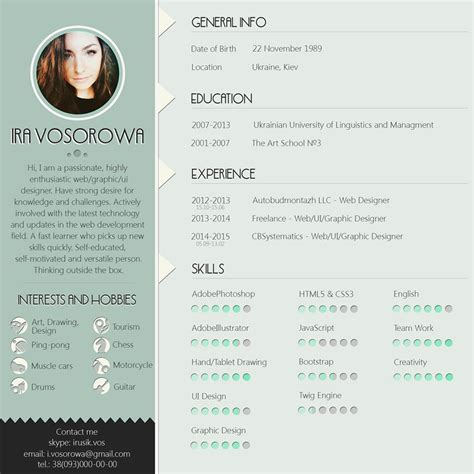 Psd Resume Template 25 Modern And Wonderful Psd Resume Templates Free