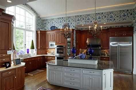 two different granite colors in kitchen country house 9502