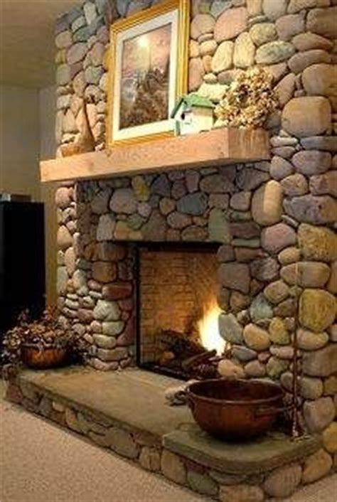 river rock fireplace 1000 images about fireplace on river rock